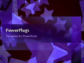 PowerPlugs: PowerPoint template with multiple white stars moving on red background