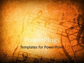 PowerPlugs: PowerPoint template with music grunge background with different music symbols