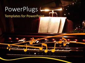 PowerPlugs: PowerPoint template with a music night with blackish background