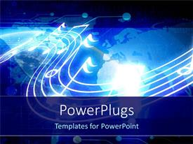 PowerPlugs: PowerPoint template with music technology, notes and binary on world map