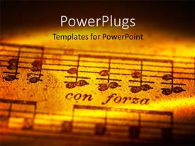 PowerPlugs: PowerPoint template with musical notes with creative lighting