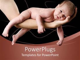 PowerPlugs: PowerPoint template with naked baby lying on grown-ups arm