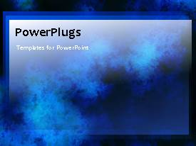 PowerPlugs: PowerPoint template with a natural background with movement of the bluish smoke