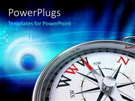 PowerPlugs: PowerPoint template with navigation compass points to WWW as the right path