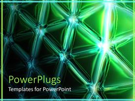 PowerPlugs: PowerPoint template with a neon green colored background with bright star patterns