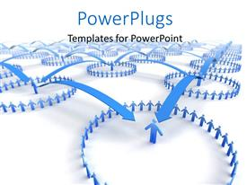 PowerPlugs: PowerPoint template with network of business teams with arrow joining teams together