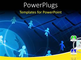 PowerPlugs: PowerPoint template with network connectivity between people and computers
