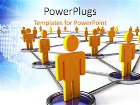 PowerPlugs: PowerPoint template with a lot of people connected to each other