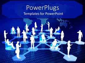 PowerPlugs: PowerPoint template with networking metaphor with people connected via Internet, binary code, world wide web, IT