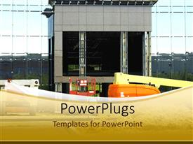 PowerPlugs: PowerPoint template with new building construction, large equipment, development