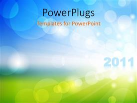 PowerPlugs: PowerPoint template with new hope in year 2011, with nature
