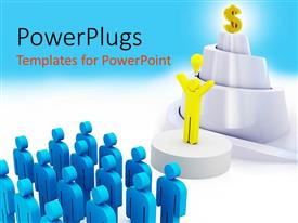 PowerPlugs: PowerPoint template with a number of people with their leader
