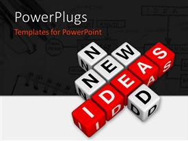 PowerPlugs: PowerPoint template with new ideas crossword puzzle symbol