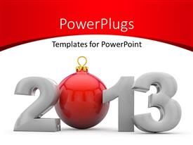 PowerPlugs: PowerPoint template with the new year 2013 with a white background