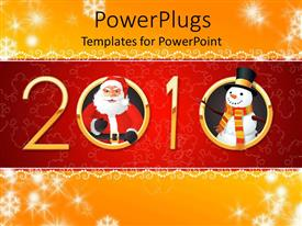 PowerPlugs: PowerPoint template with the new year celebration of 2010