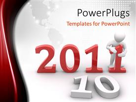 PowerPlugs: PowerPoint template with the new year celebration of 2011 with map in the background