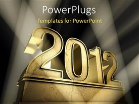 PowerPlugs: PowerPoint template with the new year celebration of 2012
