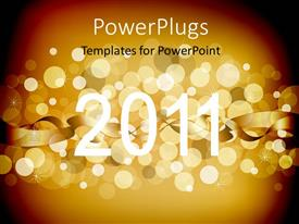 PowerPoint template displaying the new year celebrations of the year 2011