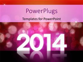 PowerPlugs: PowerPoint template with new year depiction with abstract background and year 2014