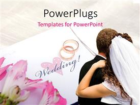 PowerPlugs: PowerPoint template with a newly weded couple with a pair of wedding rings