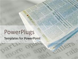 PowerPlugs: PowerPoint template with a newspaper is placed on the table with off white background