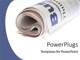 PowerPlugs: PowerPoint template with a newspaper with white background and place for text