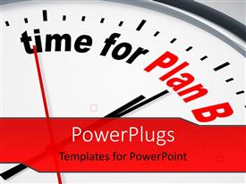 PowerPlugs: PowerPoint template with nice clock with time for Plan B with grey color