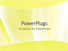 PowerPoint template displaying nice elegant curves with yellow color