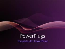 PowerPlugs: PowerPoint template with nice smooth waves with purple color