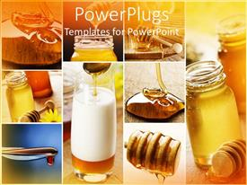 PowerPlugs: PowerPoint template with nine different displays showing honey in different places and forms