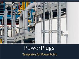 PowerPlugs: PowerPoint template with non specific view of part of a chemical plant