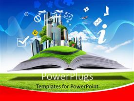 PowerPlugs: PowerPoint template with a notebook with a lot of greenery