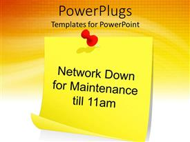 PowerPlugs: PowerPoint template with a notice of network being down for a while