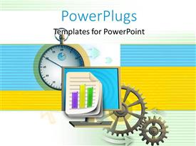 PowerPlugs: PowerPoint template with a numbe rof gears with colorful background