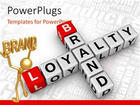 PowerPlugs: PowerPoint template with a number of alphabets on boxes