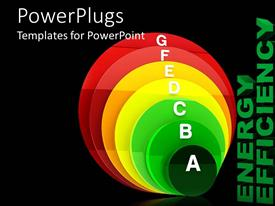 PowerPlugs: PowerPoint template with a number of alphabets in various colored circles
