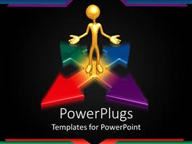 PowerPlugs: PowerPoint template with a number of arrow signs with a person on it