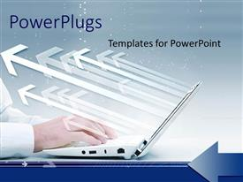PowerPlugs: PowerPoint template with a number of arrows with a bluish background