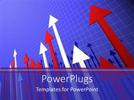 PowerPlugs: PowerPoint template with a number of arrows with boxes in the background