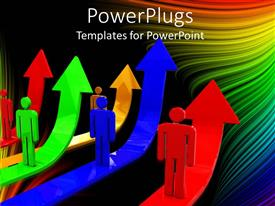 PowerPlugs: PowerPoint template with a number of arrows with figures standing on them