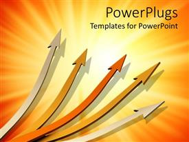 PowerPlugs: PowerPoint template with a number of arrows pointing towards various directions