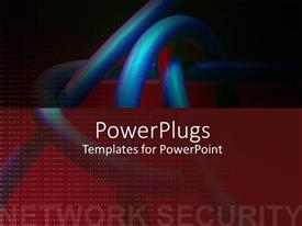 PowerPlugs: PowerPoint template with a number of arteries with blackish background