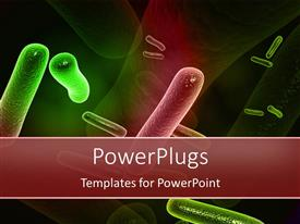 PowerPlugs: PowerPoint template with a number of bacteria with their reflection in the background