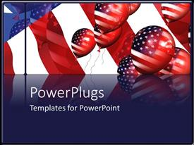 PowerPlugs: PowerPoint template with a number of balloon shaped American flags
