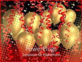 PowerPlugs: PowerPoint template with a number of balloons with celebration stuff in background