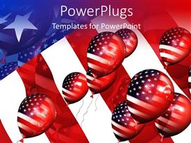 PowerPlugs: PowerPoint template with a number of balloons depicting American flag