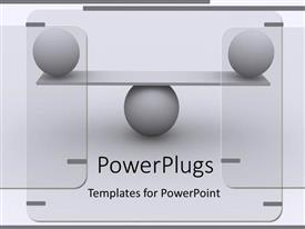 PowerPlugs: PowerPoint template with a number of balls being balanced on each other
