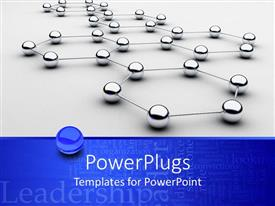 PowerPoint template displaying a number of balls connected to each other