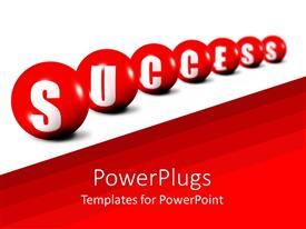PowerPlugs: PowerPoint template with a number of balls creating the word success