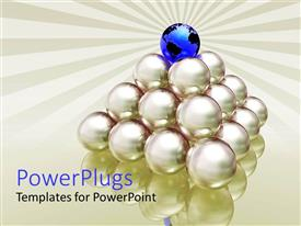PowerPlugs: PowerPoint template with a number of balls with the globe on the top